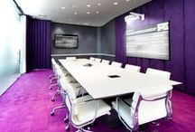 Modern Video Conferencing Rooms / Different video conferencing suites with modern furniture, colours and shapes.
