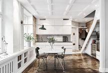 Kitchen / Kitchen and Dining Room Interior Decor Inspiration