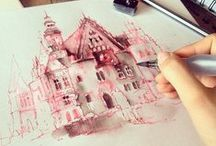 Drawing castle / houses