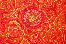 Dotart / Dotart mandala stones and dotart paintings