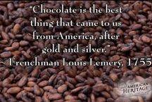 Chocolate / Dark chocolate... white chocolate... milk chocolate... chocolate desserts and sauces and drinks - it's everything chocolate.