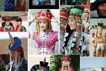 Indigenous Peoples of Mongolia / Bayad (Bayaad, Bayit, Bait), Dariganga, Durvud(Durbet, Dörbed, Dörvöd), Kazakh (Kazak, Qazaq),Khalkha (Halh, Mongolian), Mingat (Myangad),Torguud (Torgut), Tsaatan (Dukha, Tsachin) / by Glenn Welker