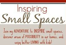 Inspiring Small Spaces / Join my adventure to inspire #smallspaces as I explore the possibilities for home decor, DIY projects and organizational ideas for small nooks and corners of our home!