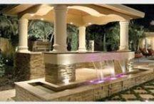 Modern Outdoor Living / Florida Outdoor Living Designer, Ryan Hughes Design/Build.