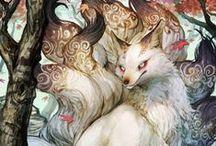 Fox fires / Fox, kitsune and yokai