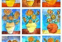 kuvisjuttuja / oppitunneille kuvismateriaalia