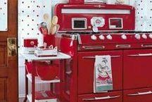 Czerwona kuchnia / Red in the kitchen / kuchnia, kitchen, red, czerwona kuchnia, applience