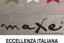 """Collezione Maxe / Maxe Frottage Ceramico Una collezione in gres porcellanato che fa rivivere lo spirito del legno di recupero che prende forma e movimento del ricalco manuale in un formato lungo centoventi centimetri. Un prodotto pieno di poesia, arte e natura. 8 grafiche diverse in 11 colori naturali e sofisticati.  Formato: 15x120cm/6""""x48"""" Colori: Passepartout-Ruggine-Cipria-Grafite-Fumo-Gesso-Blunotte-Bluoltremare-Azzurro-Verdescuro-Verdechiaro-Verdemela"""