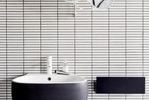 Black&White Bathrooms / How stylish black and white bathrooms look. It is timeless design. It lasts forever.