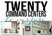 Command Center Ideas / Ways to display the family calendar & other information