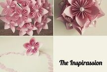 Paper wedding decoration