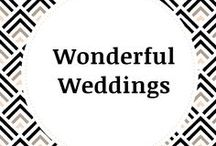 Wonderful Weddings / Weddings are wonderful, beautiful, and magical. Take a closer look at enchanting chupas, flower arrangements, table settings and decorations.
