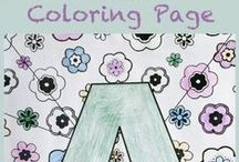 Coloring Pages & Printables / Coloring pages and printables to entertain kids of all ages!