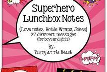 "Lunchbox Jokes & Notes / Lunchbox notes & jokes that are available on Etsy at ""Teach at the Beach Shop."""