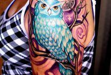 Tatts / owls and dreamcatchers