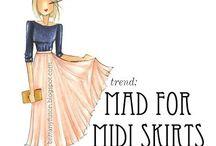 Midi / Midi skirts