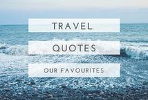 travel quotes / Inspirational and stylish quotes about travel.