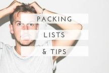 packing lists + tips / Packing lists, tricks and hacks - and lots of things you shouldn't travel without!