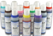 Kopykake Kroma-Kolors / Kopykake Kroma Kolors: Reach for the Top Find Your Color Instantly - 12 bottles (11 assorted colors and 1 bottle of Airbrush Cleaner). An array of liquid food colors designed for airbrush cake decorating.
