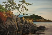 Beach and Ocean Paintings / West coast acrylic paintings featuring local beaches