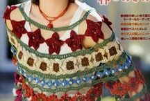blouses, tops, dresses knitted and crocheted