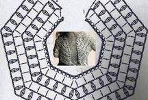 crochet : grilles et tutos / des grilles de points, de bordures  / by isa bricole
