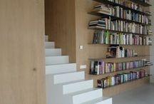 libreria a muro, shelves