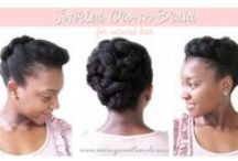 Braids and Buns / Updos, Buns, Braids, Chic Protective Styles for straight or naturally curl hair