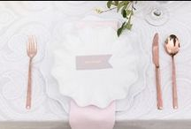 Tabletop Trends and Inspiration / Ideas on centerpieces, place settings and more for your tabletop wedding decor.
