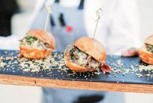 Unique Eats: Wedding Food Edition / From cocktail hour hors d'oeuvres to three-course reception meals, your mouth may start watering while viewing this board.