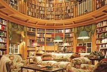 Book Nooks / Libraries, reading spots, books and cats