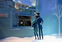 Tiffany & Co. Christmas Windows 2014 New York City / The Tiffany & Co. holiday windows 2014 focus on the energy and sophistication of New York City in the 1950s and '60s.  Read More at: http://designlifenetwork.com/tiffany-co-christmas-windows-2014