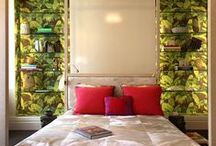 McMillen's Tropical Escape / New York based Interior Design firm McMillen, lead by designer Suzana Whyte Braga Monacella McMillen, evokes a tropical escape in their room for the Kips Bay Decorator Show House 2015.  The room features pop-like tropical wall paper and a low to the ground custom bed.  THe designer's Brazilian roots can be seen in the ceiling made to look like a deco straw marquetry.  More Interiors at: http://designlifenetwork.com