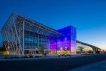 Mood Lighting / Artist Ivan Toth Depeña Creates Light Installation for a New Mexico Arena  Read Entire Article at: http://designlifenetwork.com/mood-lighting  Ivan Toth Depeña #WisePiseArena #BillIndursky #RobertReck #JenniferSensib #MattO #NewMexico #Basketball #Arena #PublicArt #ArtInstallations #LightInstallations #LightArtInstallations #Inside/Out #LED