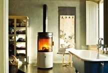 Tube Shaped Wood Pellet and Wood Burning Stoves / Wood pellet stoves and Wood Burning Stoves that are shaped in a tube style.