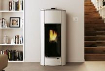 White Wood Pellet  Stoves and interior design inspiration / Pictures of White wood pellet stoves. Pictures of wood pellet stoves that compliment White as an interior design colour.