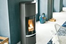 Blue Wood Burning Stoves and Interior Design Inspiration / Pictures of Blue Wood Burning Stoves. Pictures of Blue wood burning stoves that compliment Blue as an interior design colour.