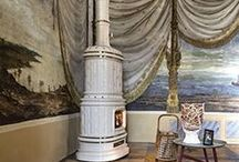 White Wood Burning stoves and Interior Design ideas / Pictures of White wood Burning stoves. Pictures of wood Burning stoves that compliment White as an interior design colour.