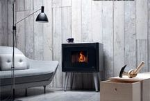 Black and Grey Wood Pellet Stoves and Interior Design Inspiration / Pictures of black and Grey wood pellet stoves. Pictures of stoves that compliment Grey and white as an interior design colour.