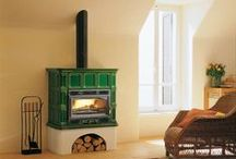 Green Wood Burning Stoves and Interior Design Inspiration / Pictures of Green wood Burning stoves. Pictures of  Greenn wood burning stoves that compliment Green as an interior design colour.