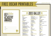 Academy Awards / One board for all your Academy Awards party needs!  Check out all the recipes for party food, printable ballots and party favors, as well as links to the movies based on books this year!