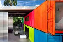 Shipping containers houses