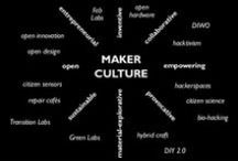 """Maker movement / """" The Maker Movement, a push to re-imagine the objects we own rather than throw them away.""""     definition from http://p2pfoundation.net/Maker_Movement"""