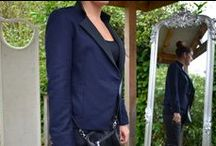 Military Style / ottod'Ame Military Style Jacket £215, Black Basic Vest £16, Wax Coasted Jeans £105