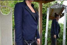 Military Style / ottod'Ame Military Style Jacket £215, Black Basic Vest £16, Wax Coasted Jeans £105