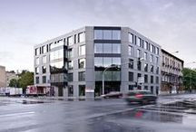 Easst.com / Office Building / Poland / Our new office building located in Poznan, Poland. Elevation is made of gray Swisspearl boards.
