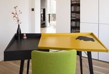Easst.com / Interiors full of color / Poland / Easst.com is presenting new inrerior design. House in Poland with white walls, natural wood floors and color accents of furnitures.