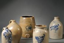 What a Crock! / Crocks, Pottery, Saltglaze, Yellow and Redware that I love to collect! / by Barbara Dolan