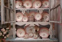 China Cabinet / How Pretty To Walk By A Hutch Filled With Beautiful Dishes And China~ Especially when it is filled with Belleek, and Emma Bridgewater, and Greengate! / by Barbara Dolan