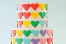 Rainbow cakes / Splash your cake with colour!